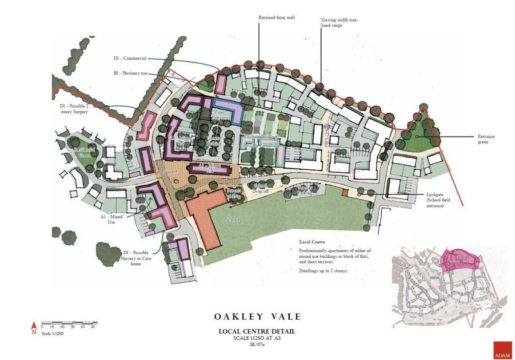 Oakley Vale Local Centre drawing